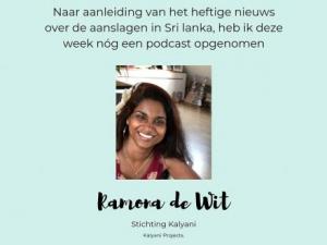 Ramona te gast voor een podcast bij De Stamtafel