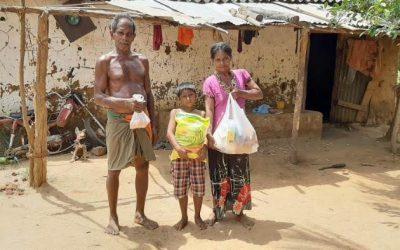 Donatie voedselpakketten
