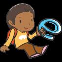 Sri Lanka meisje in cartoon stijl getekend